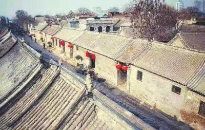 古代街区风景图黑白