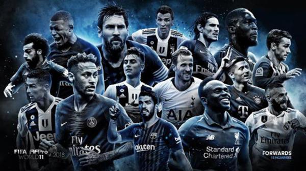 FIFA年度最佳阵容前锋候选:梅西C罗领衔 姆巴
