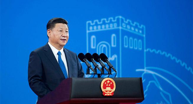 习近平出席国际刑警组织第86届全体大会开幕式并发表主旨演讲