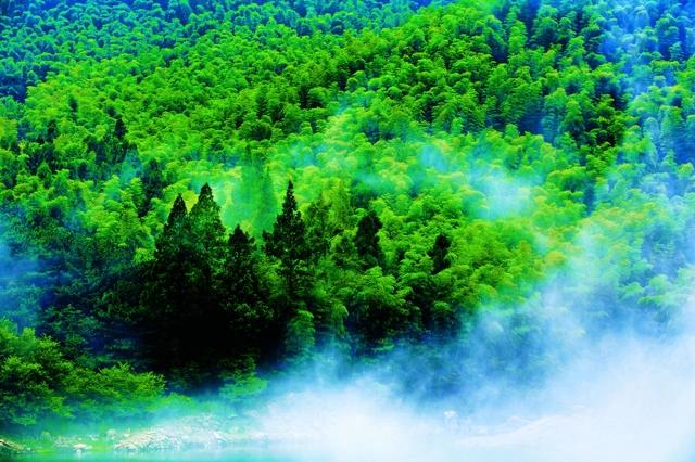 云雾缭绕黄柏山