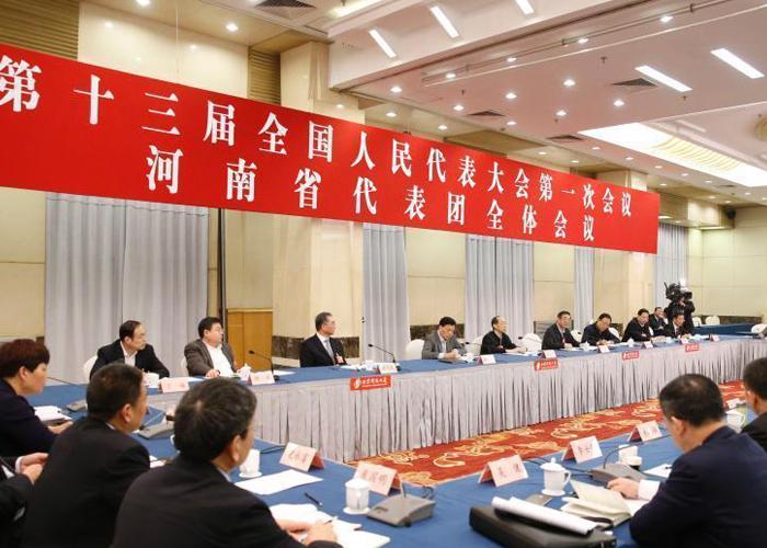 全国人大河南省代表团举行小组会议