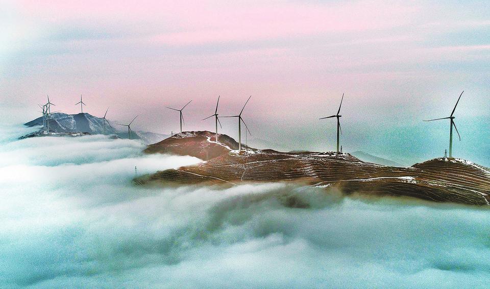汝阳大虎岭出现云海景观