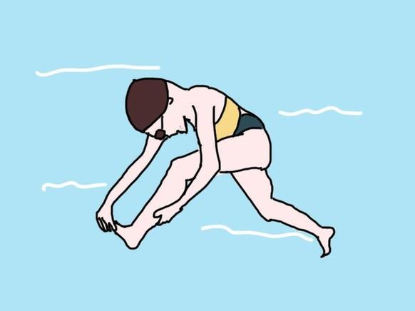 游泳的时候抽筋怎么办?快来学几招