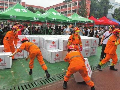 多部门紧急救援 震区社会平稳有序