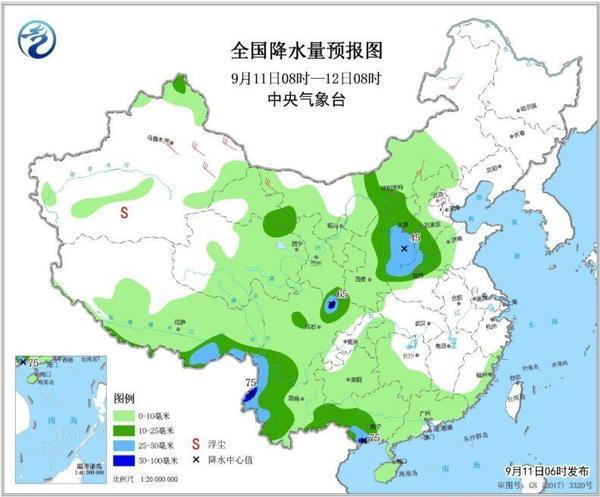 今日河南大领域有雨!分开地球外貌歌词郑州的雨要一直下到夜里!