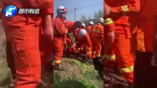 新乡消防员枯井救人 突然一头栽倒 不省人事