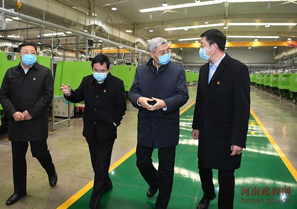 尹弘到鹤壁市检查指导疫情防控和企业复工复产工作