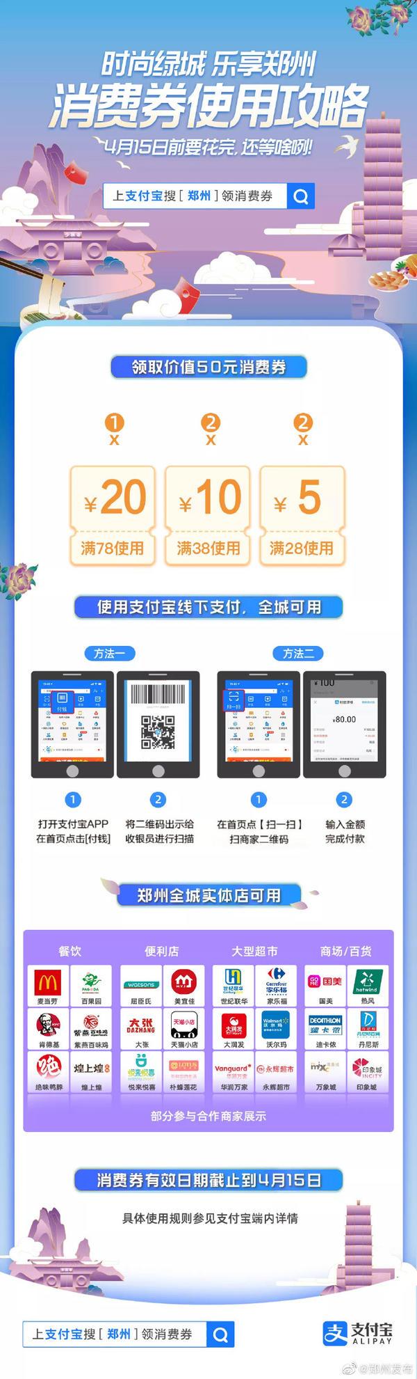 『民生』郑州消费券已带动消费金额1.28亿元
