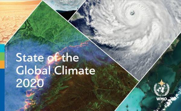 極端天氣,2020年是有記錄至今三個最暖年份之一