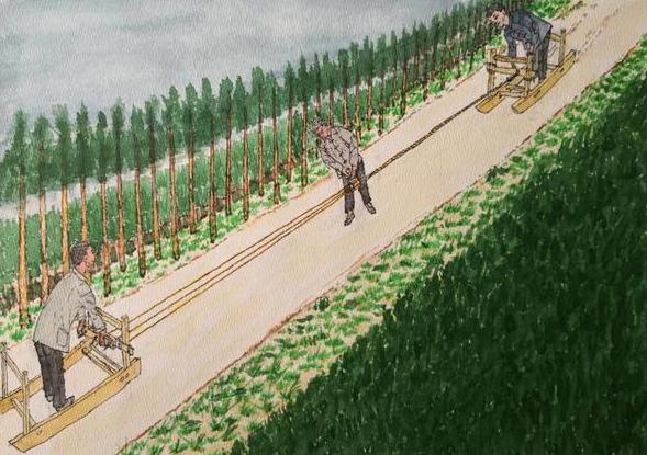 河南老农拿笔画了一组过去的乡村,你见过吗?