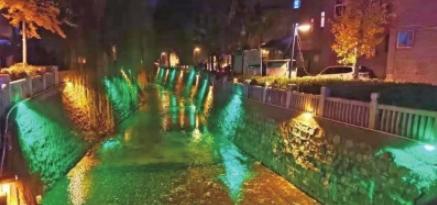 小水渠变身景观渠 洛阳中州渠老城区南关段夜景惹人爱